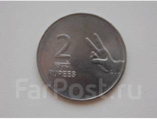 Индия 2 рупии 2007 год (иностранные монеты)