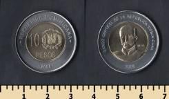 Доминиканская республика 10 песо 2007 год
