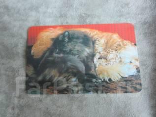 Календарики кошки и собаки 1992-1993 2шт.