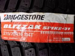 Bridgestone Blizzak Spike-01. Зимние, без шипов, 2013 год, без износа, 4 шт