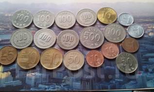 20 монет Южной Кореи без повторов!