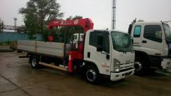 Isuzu Elf. Борт-кран Isuzu ELF (NQR90L-L) с КМУ UNIC UR-V374, 5 193 куб. см., 4 300 кг. Под заказ