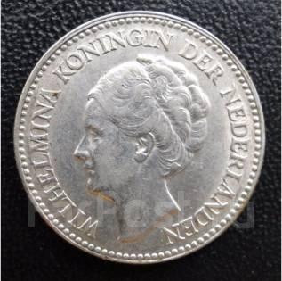 1/2 гульдена.1930г. Нидерланды. Вильгельмина. Серебро. АU.