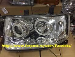 Линзовая оптика фары с анг. глазками Toyota Probox. Toyota Probox, NCP160V, NCP165V, NCP50V, NCP51V, NCP52V, NCP55V, NCP58G, NCP59G, NCP50, NCP51, NCP...