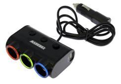 Разветвитель на 3 прикуривателя и 2 USB Marubox M11