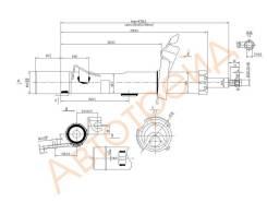 Стойка передняя FORD FOCUS II/C-MAX 04- RH SAT ST-1330820