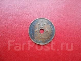 Родезия и Ньясланд 1/2 пенни 1958 года .