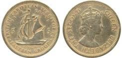 Восочно-карибские острова 5 центов 1955 год (иностранные монеты)