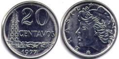 Бразилия 20 сентаво 1970 (иностранные монеты)