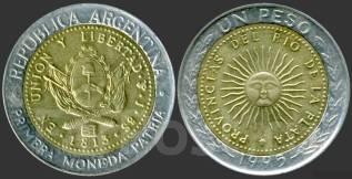 Аргентина 1 песо 2010 год (иностранные монеты)