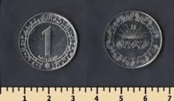 Алжир 1 динар 1983 год 20 лет независимости (иностранные монеты)