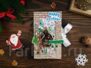 Подарок на Новый год-шоколадница ручной работы. Под заказ