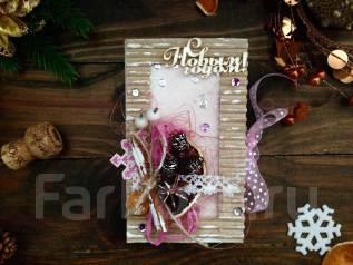 Подарок на Новый год, новогодняя шоколадница ручной работы. Под заказ