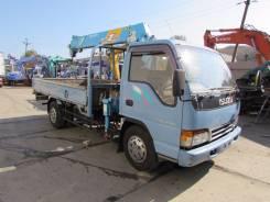 Isuzu Elf. Isuzu ELF бортовой - грузовой с манипулятором, 4 300 куб. см., 4 000 кг.