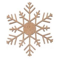 """Заготовка для творчества - елочная игрушка """"Ажурная снежинка"""""""