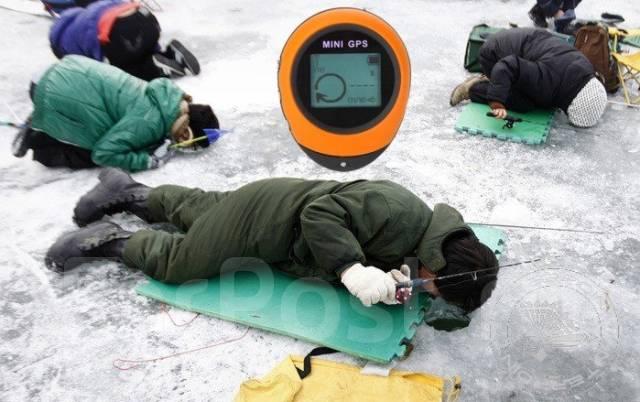 Mini GPS Навигатор для рыбалки (16 точек, жёлтый)