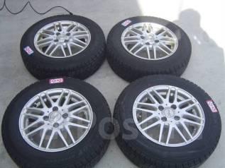 Литые диски R14 с зимними шинами 175/70R14 86Q Dunlop DSX. 5.5x14 4x100.00 ET38