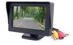 """Комплект из 4.3"""" монитор и рамка для номера с камерой заднего вида"""