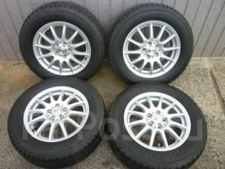 Литые диски R15 с зимними шинами 195/65R15 Toyo Garit G4. 6.0x15 5x100.00 ET45 ЦО 73,1мм.