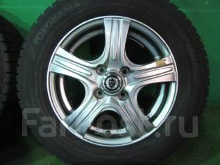 Литые диски Weds R14 с зимними шинами 175/70R14 84Q Yokohama IG30. 5.5x14 4x100.00 ET50 ЦО 73,0мм.