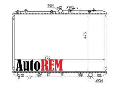 Радиатор охлаждения двигателя. Toyota Highlander, GSU40, GSU45 Toyota Kluger V Двигатели: 2GRFXE, 2GRFXS, 2GRFE, 2GRFKS