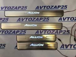 Накладка на порог. Toyota Allion