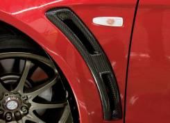 Карбоновые вставки в передние крылья для Mitsubishi Evolution 10. Mitsubishi Lancer Evolution, CZ4A Двигатель 4B11