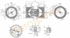 Мотор отопителя салона RENAULT FLUENCE 10- SAT ST-272104377R