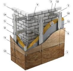 Профиль для фасада вертикальный ПВТ 27*76 1.2 мм 3м Вентфасад СТАФФ