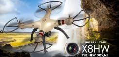 Квадрокоптер (дрон) Syma X8HW с барометром и WiFi камерой+SD карта