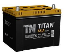 Titan. 95 А.ч., правое крепление, производство Россия