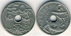 Испания 50 сентимо 1949 год (иностранные монеты)