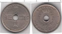 Норвегия 1 крона 1949 год (иностранные монеты)