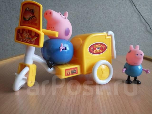 Набор из серии Свинка Пеппа! Джордж с папой Свином! С рубля!