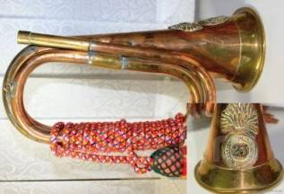 Труба, горн боевой, полковой старинный сигнальный, 19 век. Оригинал