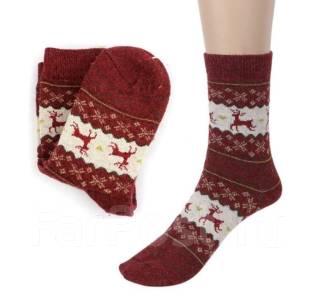 Тёплый носки. Олени. Новый год. Рождество