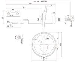 Стойка задняя TOYOTA COROLLA/SPACIO/SPRINTER/CARIB 91-02 4WD LH SAT ST4854019175
