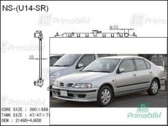 Радиатор двигателя Nissan PRIMERA 1996- (P11) (SR18-20) (PA)