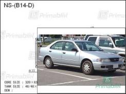 Радиатор двигателя Nissan SUNNY 1994- (B14) dies (CD20) (PA)
