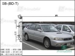Радиатор двигателя Subaru LEGACY 1993- (BD, BG, BK) BD-T turbo (EJ20-T, EJ22-T) полностью алюминиевый(AL*36)