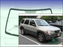 Лобовое стекло Mazda TRIBUTE 2000-2007 (1st Gen/EP) (Зеленоватый оттенок с синим козырьком, Бренд:УНG)