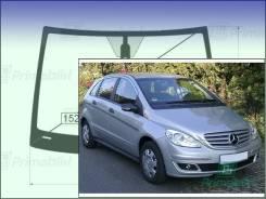Лобовое стекло Mercedes B-Class 2005-2011 (W245) пятак-зерк датчик (Зеленоватый оттенок с синим козырьком, Бренд:ВSG)