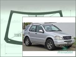 Лобовое стекло Mercedes M-Class 1997-2004 (W163) окно/датчик ML430 (Зеленоватый оттенок с серым козырьком, Бренд:ВSG)
