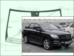 Лобовое стекло Mercedes M-Class 2011- (W166) обогрев окно/датчик ML350/550 молд. (Зеленоватый оттенок, Бpeнд:Benson)