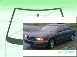 Лобовое стекло Mitsubishi DIAMANTE 1990-1995 (F1#A-4d h/t) (Зеленоватый оттенок с зеленым козырьком, Бренд:ВSG)