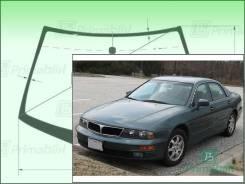 Лобовое стекло Mitsubishi DIAMANTE 1995-2005 (F3#A)RHD (Зеленоватый оттенок с зеленым козырьком, Бренд:ВSG)