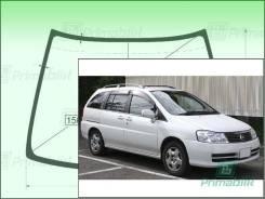 Лобовое стекло Nissan LIBERTY 1998-2004 (M12) (Зеленоватый оттенок с зеленым козырьком, Бренд:ВSG)