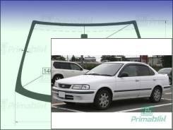 Лобовое стекло Nissan SUNNY 1998-2006 (B15) (Зеленоватый оттенок с синим козырьком, Бренд:УНG)