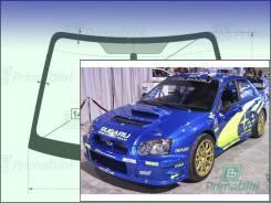 Лобовое стекло Subaru Outback Sport 2000-2007 (GD-GG)(4d sed-44S) пятак-зерк (Зеленоватый оттенок с синим козырьком, Бренд:УНG)