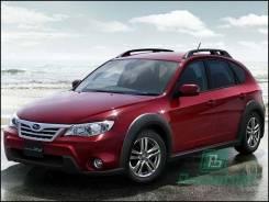 Лобовое стекло Subaru Impreza XV 2007-2013 (GE-GH-GV-GR/ZR1) обогрев для LHD (Зеленоватый оттенок с серым козырьком, Бренд:ВSG)
